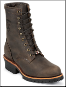 "Chippewa Men's 8"" Chocolate Apache Lace Up Steel Toe Logger Boot 20091 (SKU: 20091)"