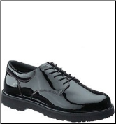 Bates Men's High Gloss Duty Oxford-Black E22141 (SKU: E22141)