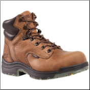 "Timberland Women's Titan 6"" Safety-Toe Work Boots - Coffee Full Grain 26388"
