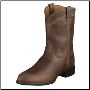 Ariat Men's Heritage Roper Western Boots - Distressed Brown 10002284