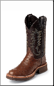 Justin Men's Tekno Crepe - Antique Full Quill Brown Ostrich - 5031 (SKU: 5031)