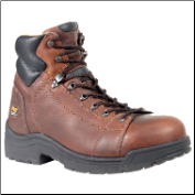 Timberland PRO Men's TiTAN Safety Toe Lace-to-Toe Brown Full-Grain Leather 50506