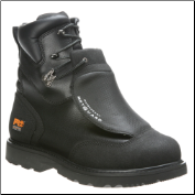"Timberland PRO Men's Waterproof 8"" Steel Toe Met Guard Boot Black Ever-Guard Leather 53530"
