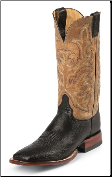 Justin Men's AQHA Foundation Series - Black Smooth Ostrich - 5507