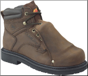 "Carolina Men's 6"" Broad Toe Metatarsal Guard- Dark Brown 599 (SKU: 599)"