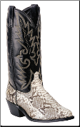 Laredo Men's Genuine Snake Western Boots: Natural 6751 (SKU: 6751)