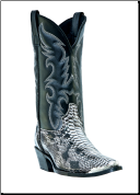 "Laredo Men's Western Boots ""Monty""-Black/White 68067 (SKU: 68067)"