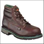Thorogood Men's Work One Green Stripe 6'' Sport Boots - Safety Toe - Brown 804-4711