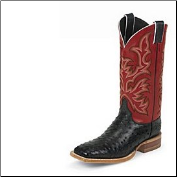 Justin Men's Aqha Lifestyle Collection Remuda Series - Black Full Quill Ostrich 8575