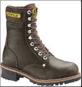 "Caterpillar Men's Leather Safety Loggers 9"" - Chocolate 88034 (SKU: 88034)"