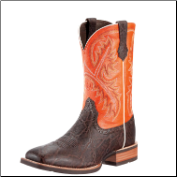 "Ariat Men's Quickdraw 11""- Chocolate Elephant Print/Mandarin 10009589"