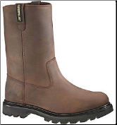 Caterpillar Men's Revolver Wellington Safety Boots – Brown 89516