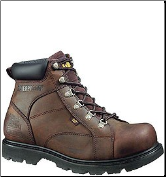 Caterpillar Men's Mortar Safety Boots – Dark Brown 89595