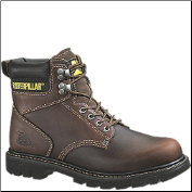 Caterpillar Men's Second Shift Safety Boots - Dark Brown 89817