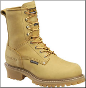"Carolina Men's 8"" Waterproof Insulated Logger - Wheat CA4826 (SKU: CA4826)"