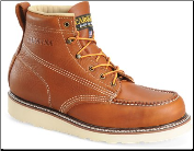 "Carolina Men's 6"" Domestic Moc Toe Wedge - Tobacco - CA7003"