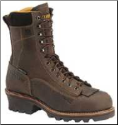 "Carolina Men's 8"" Waterproof Lace-To-Toe Logger/Lineman Boot-Dark Brown CA7022"