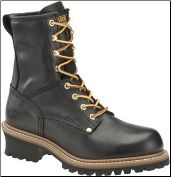 "Carolina Men's 8"" Plain Toe Logger-Black CA825 (SKU: CA825)"