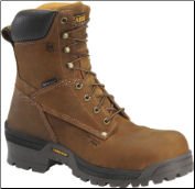 "Carolina Men's 8"" Composite(Safety-Toe)Waterproof Broad Toe Logger/Lineman Boots-Copper Brown CA8525 (SKU: CA8525)"