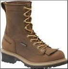 "Carolina Men's 8"" Waterproof Steel-Toe Lace to Toe Logger - Brown CA9824 (SKU: CA9824)"