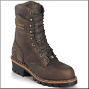 "Chippewa Men's 9"" Bay Apache Waterproof Logger Boot 25406 (SKU: 25406)"