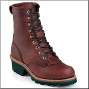 "Chippewa Men's 8"" Oiled Redwood Sportility Logger Steel Toe Boot 73031 (SKU: 73031)"