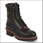 "Chippewa Men's 8"" Black Oiled 400g Thinsulate Waterproof Steel Toe Logger Boot 73050 (SKU: 73050)"