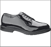 Bates Men's High Gloss DuraShocks® Oxford-Black E00111 (SKU: E00111)