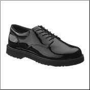 Bates Women's High Gloss Duty Oxford-Black - E22741