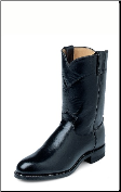 Justin Men's Classic® Ropers: Black Kipskin 3133