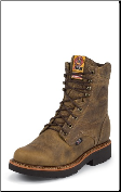 Justin Men's Work Boots: J-Max Boots- Rugged Tan Gaucho, Round Toe 440 (SKU: 440)