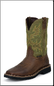 Justin Men's Steel-Toe Stampede Boots: Hunter Green WK4688 (SKU: WK4688)