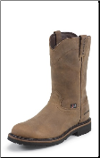 Justin Men's Steel Toe Waterproof Workboots: Wyoming Waterproof  Steel Toe WK4961 (SKU: WK4961)