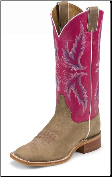 Justin Women's Bent Rail - Tan Vintage Cow - BRL311