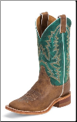 "Justin Women's Bent Rail - Burnished Tan ""America"" - BRL317"