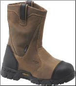 "Carolina Men's 10"" Waterproof Composite Broad Toe Internal Met Wellington-Black/Tan CA7533 (SKU: CA7533)"