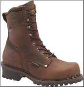 "Carolina Men's 9"" Broad Toe Insulated Waterproof Steel Toe Logger-Brown CA8508"