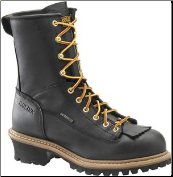 "Carolina Men's 8"" Waterproof Lace-to-Toe Logger-Black CA8825"