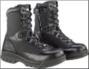 "Bates Men's 8"" Steel Toe Side Zip Boot-Black - E02320"