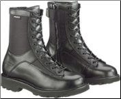 "Bates Men's 8"" Durashocks Lace-to-Toe Side Zip Boot-Black - E03140 (SKU: E03140)"