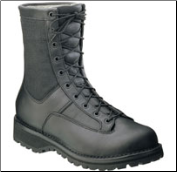 "Rocky 8"" Men's Portland Lace-to-Toe Waterproof Uniform Boot - Black 2080"