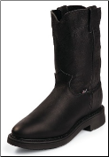 "Justin Men's 10"" Pull-On Boots - Black Pitstop 4763"