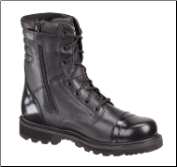 Thorogood Omega 8'' Side-Zip Jump Boots - Black Leather 834-6888