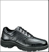 Thorogood Men's SoftStreets Moc Toe Oxford Shoes - Black Leather 834-6907