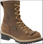 "Carolina Men's 8"" Waterproof Lace to Toe Logger Work Boot-Brown CA8824"