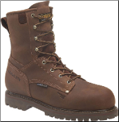 "Carolina Men's 8"" Waterproof insulated Work Boot - Brown CA9028 (SKU: CA9028)"