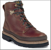 "Georgia Women's 6"" Steel toe Soggy Brown Giant G3374"