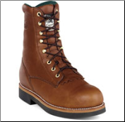 "Georgia Men's 8"" Work Lacer Heritage Boot - Walnut Barracuda G7014"