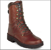 "Georgia Men's 8"" Eagle Light Boot - Russet Wildwood G8083"