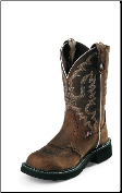 Justin Women's Gypsy Collection - 11'' Aged Bark with Diamond Cut Pull Strap Boots L9909